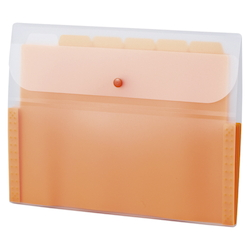Document Folder, 5 INDEX, A4, Orange