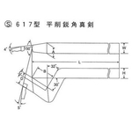 High Speed Bits S617 Type Plaining Acute Angle Straight Blade