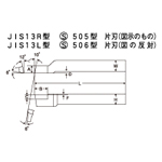 High Speed Bits JIS13L Type S506 Type Left Single Blade