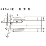High Speed Bits JIS41 Type Hole Rough Cutting