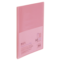 Clear File, A4, 10P, Pink
