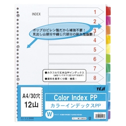 Color Index PP A4 12 Sheets 30 Holes