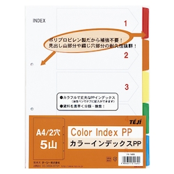 Color Index PP A4 5 Sheets 2 Holes