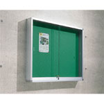 Aluminum Outdoor-Use Bulletin Board (Type Exclusively for Pins / Wall-Mounted)