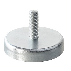 Ferrite Shallow Pot Magnets / Male thread