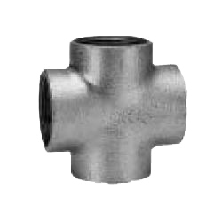 CK Fittings - Temperguss-Rohrverschraubung, Kreuz mit Band