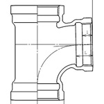 Drainage-Fitting 90°-Y