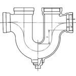 Drainage-Fitting U-Siphon