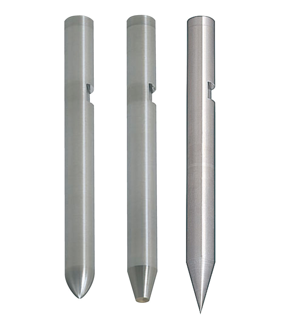 Straight Pilot Punches with Key Grooves  DLC Coating  Sharp Tip Angle Type